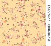 vintage floral seamless... | Shutterstock .eps vector #704077915