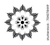 monochrome flower element. | Shutterstock .eps vector #704078449