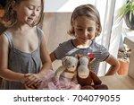 the children performed the...   Shutterstock . vector #704079055