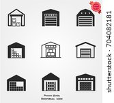 warehouse icons vector | Shutterstock .eps vector #704082181
