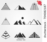 pyramid icons vector | Shutterstock .eps vector #704082187