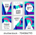 abstract vector layout... | Shutterstock .eps vector #704086795