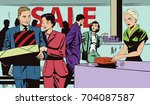 stock illustration. people in... | Shutterstock .eps vector #704087587