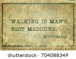 walking is man's best medicine  ...   Shutterstock . vector #704088349