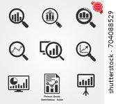 analytics icons  analytics... | Shutterstock .eps vector #704088529