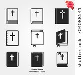 bible book icons vector | Shutterstock .eps vector #704088541