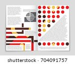 abstract vector layout... | Shutterstock .eps vector #704091757