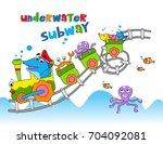 underwater subway   vector... | Shutterstock .eps vector #704092081