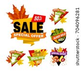 super sale with special offer... | Shutterstock .eps vector #704096281