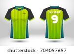 green and black layout football ... | Shutterstock .eps vector #704097697