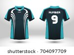 blue and black layout football... | Shutterstock .eps vector #704097709