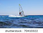 windsurfing  on the move | Shutterstock . vector #70410322