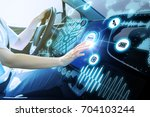 futuristic vehicle and... | Shutterstock . vector #704103244