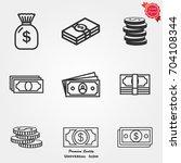 money icons vector | Shutterstock .eps vector #704108344