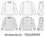 long sleeve t shirt... | Shutterstock .eps vector #704109091
