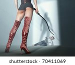 woman oppresses man | Shutterstock . vector #70411069