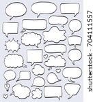 set of hand drawn speech... | Shutterstock .eps vector #704111557