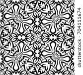 tribal tattoo design vector art | Shutterstock .eps vector #704111674