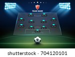 football background with soccer ... | Shutterstock .eps vector #704120101