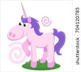 cute unicorn isolated set ... | Shutterstock .eps vector #704120785