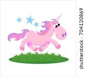 cute unicorn isolated set ... | Shutterstock .eps vector #704120869