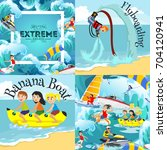 set of water extreme sports... | Shutterstock .eps vector #704120941
