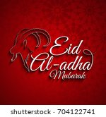 vector illustration of eid al... | Shutterstock .eps vector #704122741