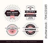birthday logo frame design... | Shutterstock .eps vector #704123185