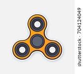 vector illustration. orange...   Shutterstock .eps vector #704124049