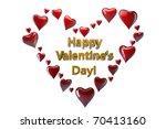 happy valentine's day hearts | Shutterstock . vector #70413160