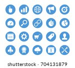 seo circular icons set | Shutterstock .eps vector #704131879