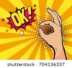 pop art background with male... | Shutterstock . vector #704136337