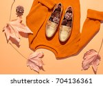 fall fashion woman clothes set. ... | Shutterstock . vector #704136361