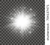 glow light effect. star burst... | Shutterstock .eps vector #704137471