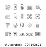 check code icons vector | Shutterstock .eps vector #704143621