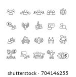 people and business icons set... | Shutterstock .eps vector #704146255