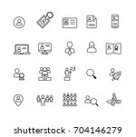 people and business icons set... | Shutterstock .eps vector #704146279
