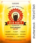 oktoberfest beer festival... | Shutterstock .eps vector #704147365
