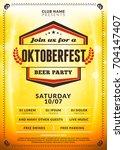 oktoberfest beer festival... | Shutterstock .eps vector #704147407