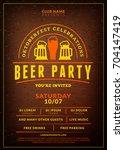 oktoberfest beer festival... | Shutterstock .eps vector #704147419