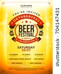 oktoberfest beer festival... | Shutterstock .eps vector #704147431