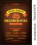 oktoberfest beer festival... | Shutterstock .eps vector #704147479