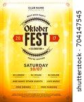 oktoberfest beer festival... | Shutterstock .eps vector #704147545