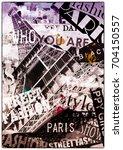 paris  france. vintage... | Shutterstock . vector #704150557