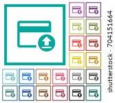 credit card money deposit flat... | Shutterstock .eps vector #704151664