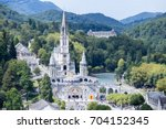 Small photo of Lourdes, a French city in which the Madonna is the sanctuary of Lourdes
