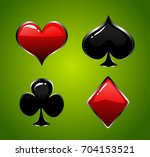 vector playing card suit icon... | Shutterstock .eps vector #704153521