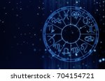 zodial sign horoscope cirlce on ... | Shutterstock . vector #704154721