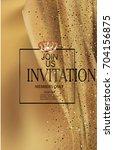 elegant gold invitation card... | Shutterstock .eps vector #704156875