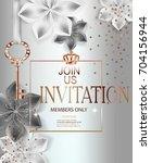 elegant invitation card with... | Shutterstock .eps vector #704156944
